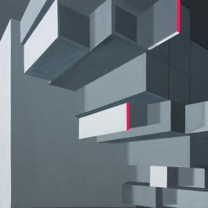 Konglomerat, 40 x 40 cm, Acryl und Öl auf bespannter Malpappe, 2017