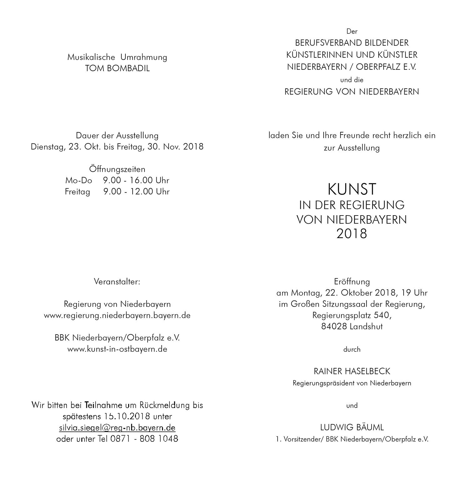 Einladungskarte zur Ausstellungseröffnung