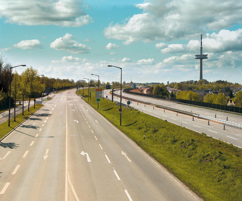Lena Schabus, Autobahn III, 2020, Bildcomposing