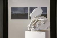 Michaela Schmid, Skulptur, 2020, Styrodurplatten, Gips und Farbe, Höhe 1m